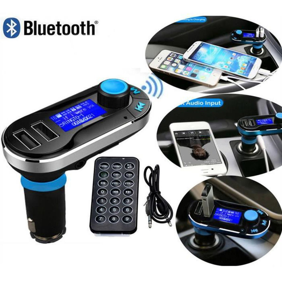 double voiture usb lecteur mp3 bluetooth voiture bluetooth haut parleur bluetooth voiture. Black Bedroom Furniture Sets. Home Design Ideas