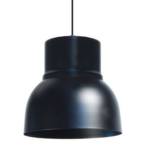 CLOCHE Lustre - suspension métal ?24cm - Coloris noir