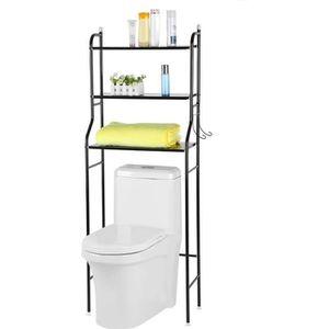 COLONNE - ARMOIRE WC Meuble de WC Armoire en fer Étagère dessus toilett
