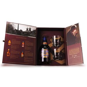 WHISKY BOURBON SCOTCH Chivas Regal 18 ans - Coffret Dégustation 2 verres