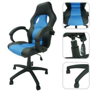 SIÈGE GAMING Siège de Bureau, Chaise pour Gaming, Course, Bleu,