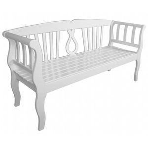 Salon de jardin Banc en bois Blanc Arcadia - Achat / Vente ...