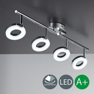 SPOTS - LIGNE DE SPOTS Plafonnier LED - Rail 4 spots - lampe spot - LED 4