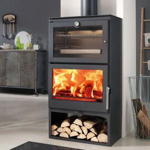 POÊLE À BOIS Panadero Poêle à bois 7,1 kW four volume de chauff
