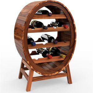 POMPE CONSERVATION VIN Casier étagère à vin Porte-bouteilles en bois d'ac