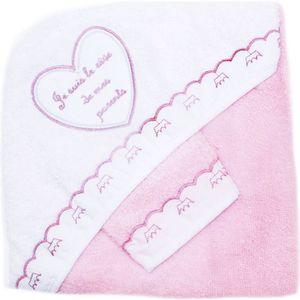 SORTIE DE BAIN Cape de bain bébé avec gant