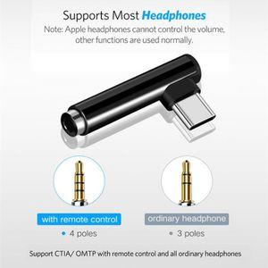 CÂBLE TÉLÉPHONE 2 pcs Adaptateurs Type-C à 3.5 mm Adaptateur de or