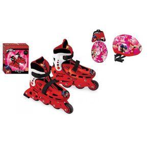 ROLLER IN LINE Roller en ligne Ladybug avec Casque de protection