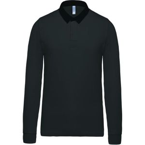POLO Polo homme rugby - manches longues - K213 - gris f