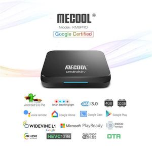 BOX MULTIMEDIA TV Box Lecteur Multimédia MECOOL KM9 Pro Google Ce