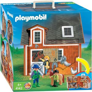 UNIVERS MINIATURE PLAYMOBIL 4142 Ferme transportable