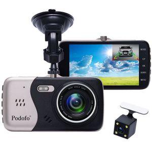 BOITE NOIRE VIDÉO Podofo Dashcam Enregistreur de Conduite Double Cam