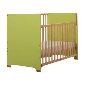 LIT BÉBÉ Lit bébé à barrière coulissante Cora  Bois et vert