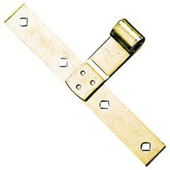 Patte /à scellement acier zingu/é Longueur 14 cm Bout rond