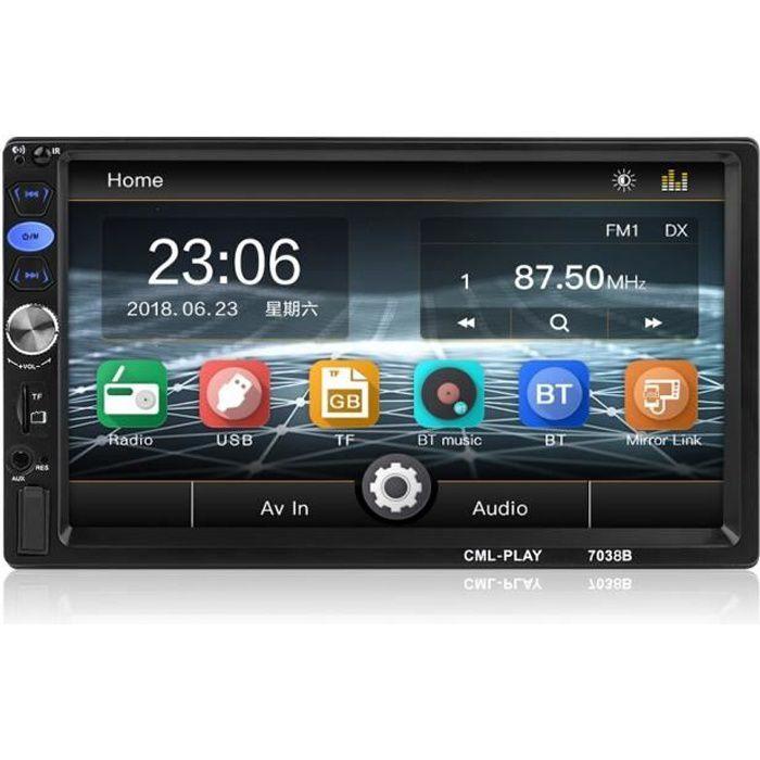 """2 Din voiture Autoradio Android 8.0 Mirror Link Subwoofer à écran tactile numérique Mp5 Radio Multimédia Bluetooth 7"""""""