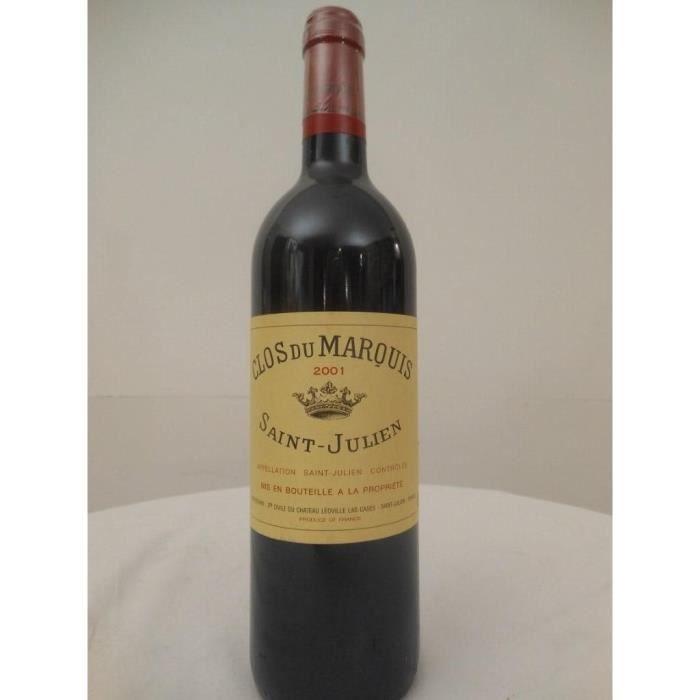 saint-julien clos du marquis rouge 2001 - bordeaux france