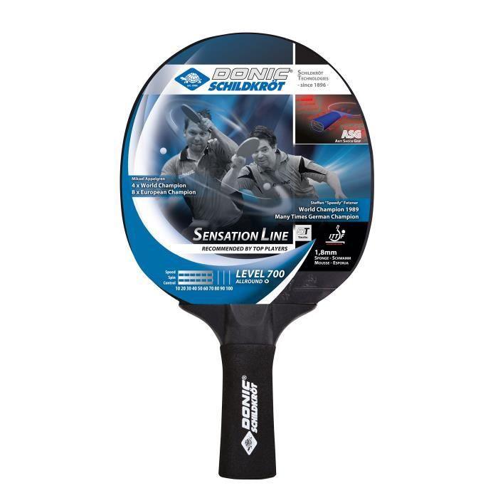 Donic schildkröt Raquette de tennis de table SENSATION 700 ASG (Anti Shock Grip)