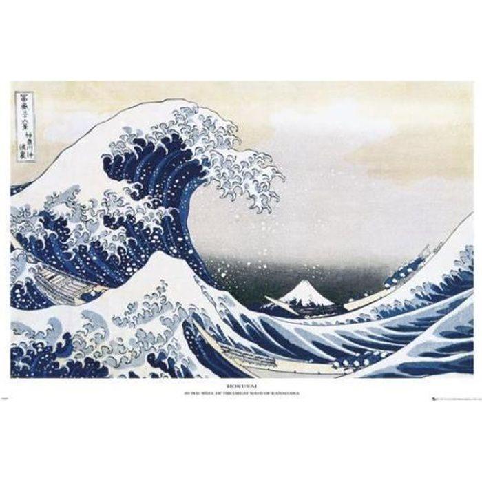 Maxi Affiche grande vague Hokusai