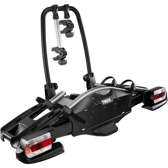 Thule VeloCompact 2 7-pin, Porte-vélos sur boule d'attelage léger et compact pour une utilisation au quotidien (pour 2 vélos).A4