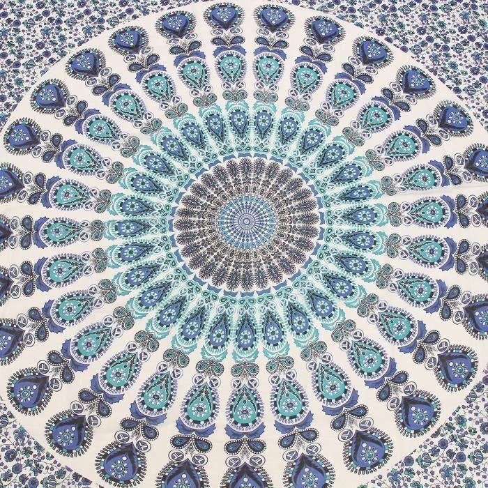 Tenture Murale Tapisserie Mandala Bohémienne Style Hippie Couvre-Lit Drap De Plage TYPE C Fes83135