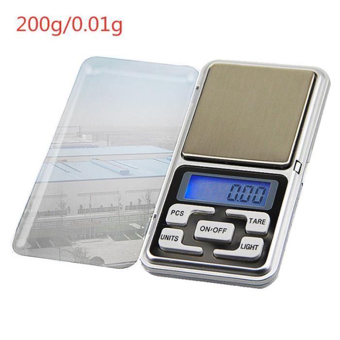 Offre spéciale 200g-300g-500g x 0.01g -0.1g-Mini Balance électronique de poche de précision pour bijoux en or Balance gr*YI1915