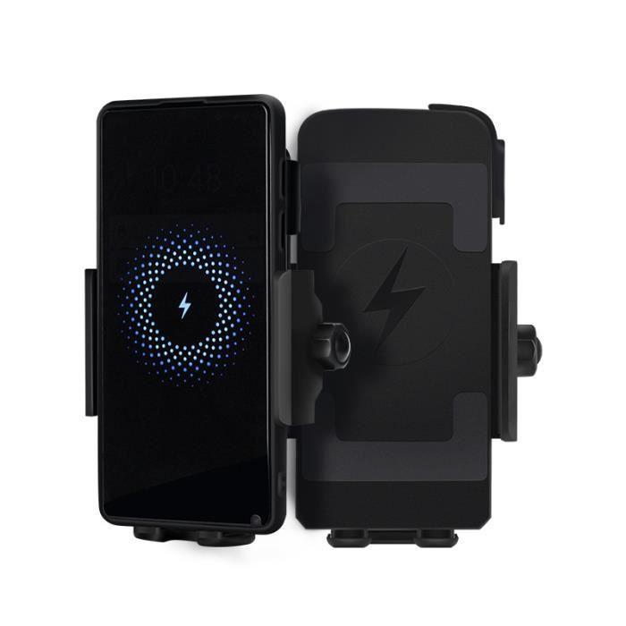 Support de téléphone pour moto universel pour Xiaomi Qi chargeur charge support de téléphone portable pour Iphone 11 rapide sans #A
