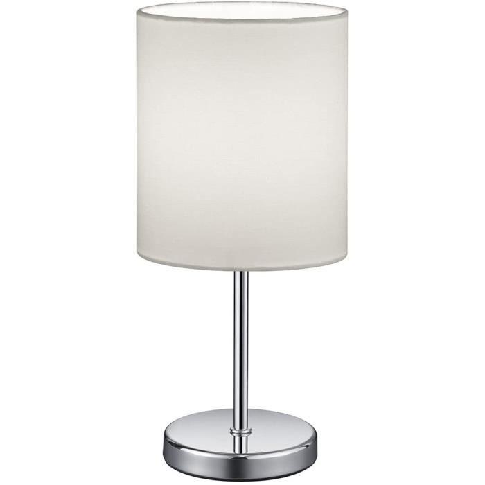 lampe de table Reality Leuchten Lampe de table Jerry, abat-jour en tissu, E14, 40 W, Blanc, 13 x 13 x 28,5 cm479
