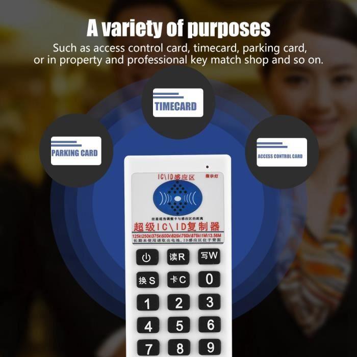 EBTOOLS Enregistreur RFID NFC IC ID copieur duplicateur RFID lecteur graveur carte de contrôle d'accès duplicateur de clé 13.56