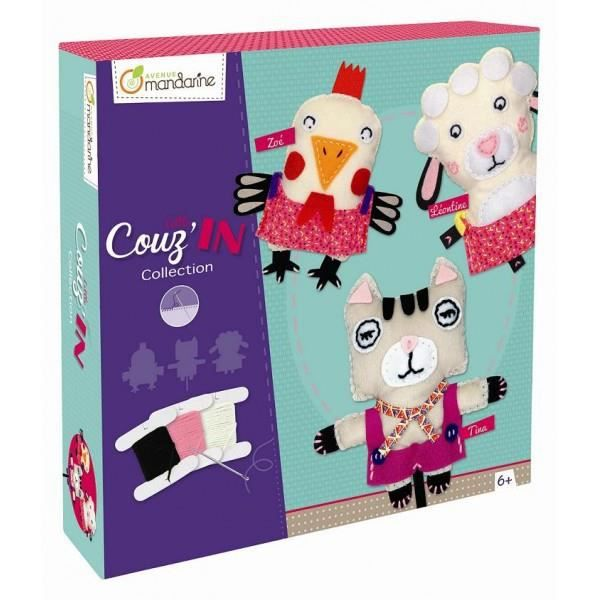 LITTLE COUZ IN COFFRET CREATION couture peluche NEUF