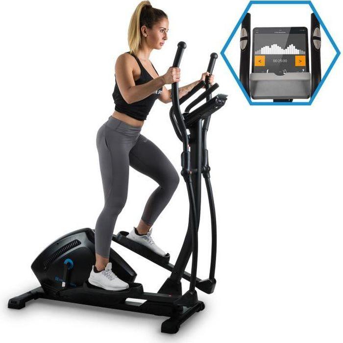 CAPITAL SPORTS Helix Track Vélo elliptique avec volant d'inertie 18kg et résistance magnétique 32 niveaux - interface Bluetooth