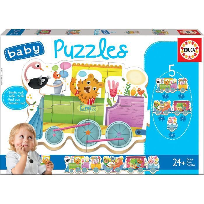 EDUCA Baby Puzzle Train Des Animaux