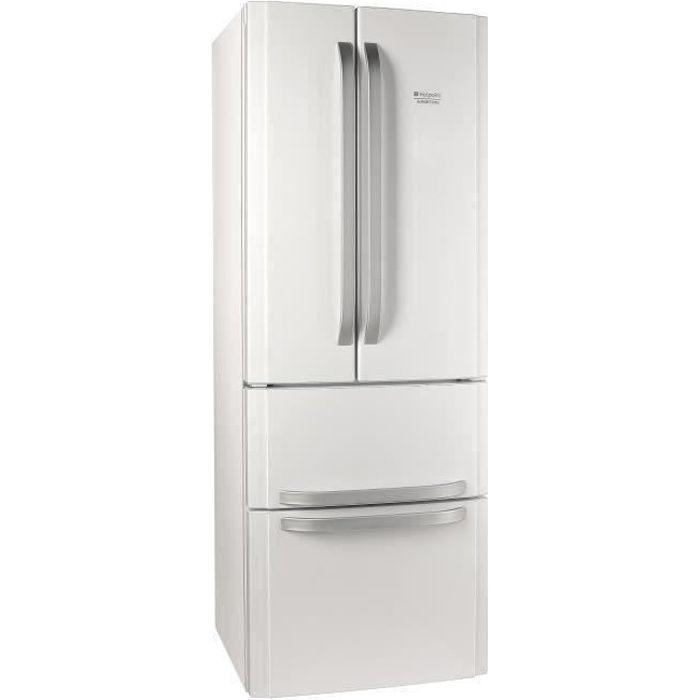 HOTPOINT E4DWC1 - Réfrigérateur multi-portes - 399L (292+107) - Froid ventilé - A+ - L 70cm x H 195.5cm - Blanc