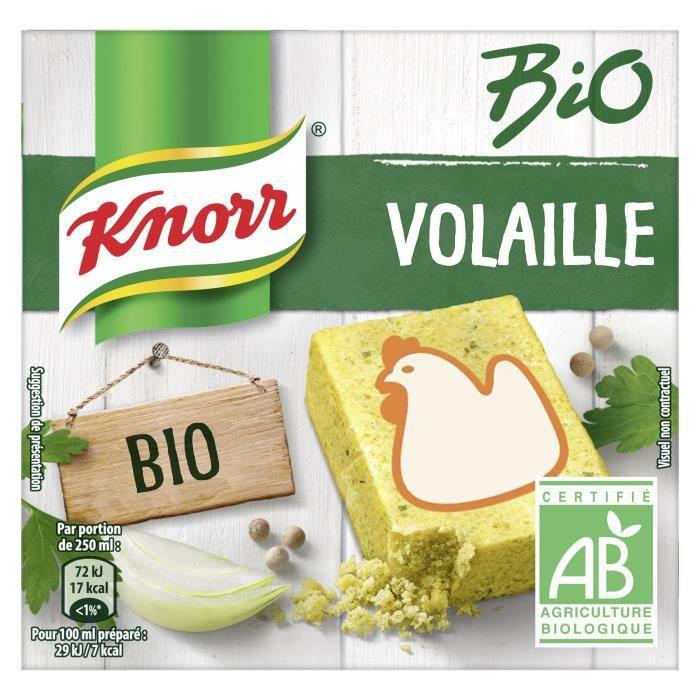 KNORR Bouillon de Poule Bio 6 cubes - 60 g