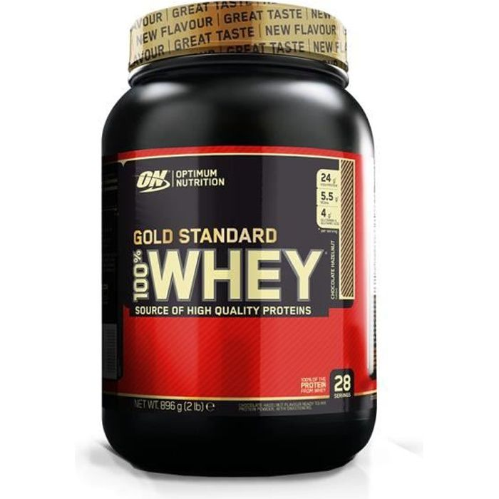 Optimum Nutrition - 100% Whey Gold Standard 2 lbs (891g) - Chocolat-noisette