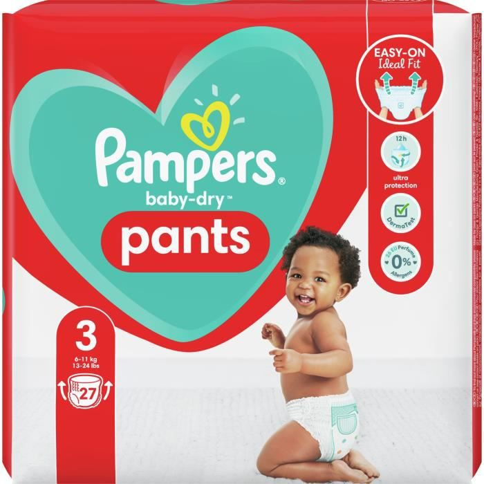 Pampers Baby-Dry Pants Couche-Culotte Taille 3 - 27 Culottes