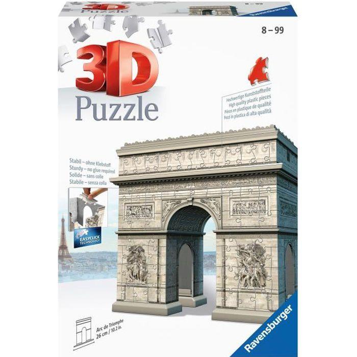RAVENSBURGER Puzzle 3D Buildings Arc de Triomphe 216 pièces