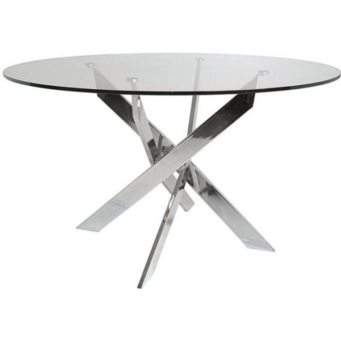 Table de repas ronde 140 cm - FAXOU - L 140 x l 140 x H 75