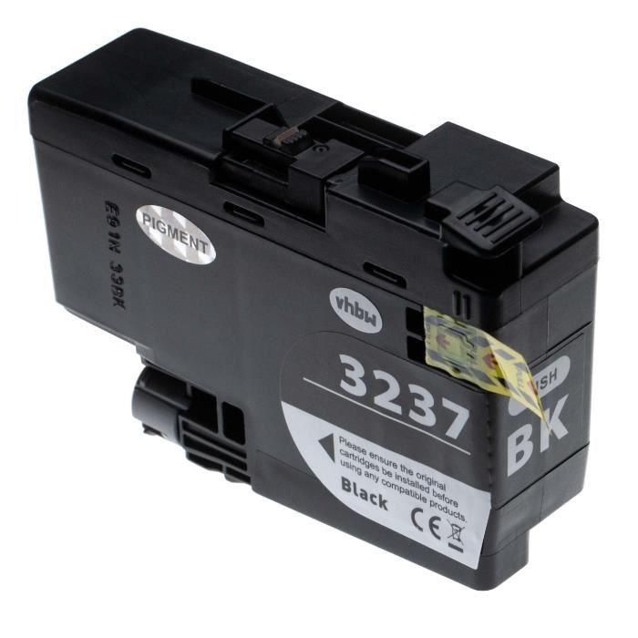 vhbw cartouche d'encre noir remplace Brother LC-3237BK, LC3237BK - 65ml+ puce