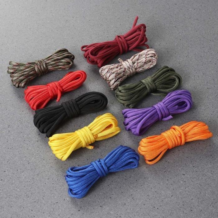 10 pièces à la main multifonctionnel bricolage Paracord corde d'escalade parachute cordon pour Camping CORDE - MATERIEL DE CORDE
