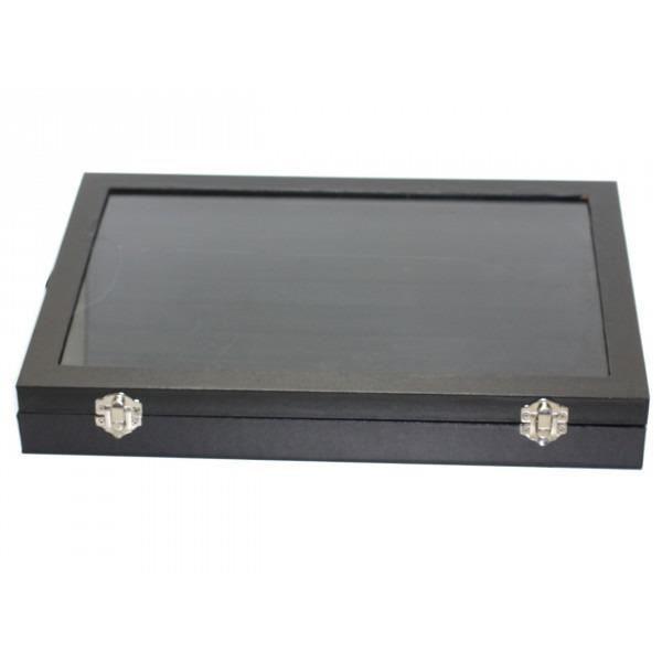 4568550000056 Présentoir Rangement pour bijoux Bagues 7 rangées 35x24cm Noir