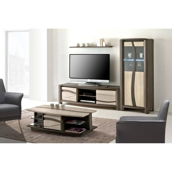 meuble t l oceanie chene massif achat vente. Black Bedroom Furniture Sets. Home Design Ideas