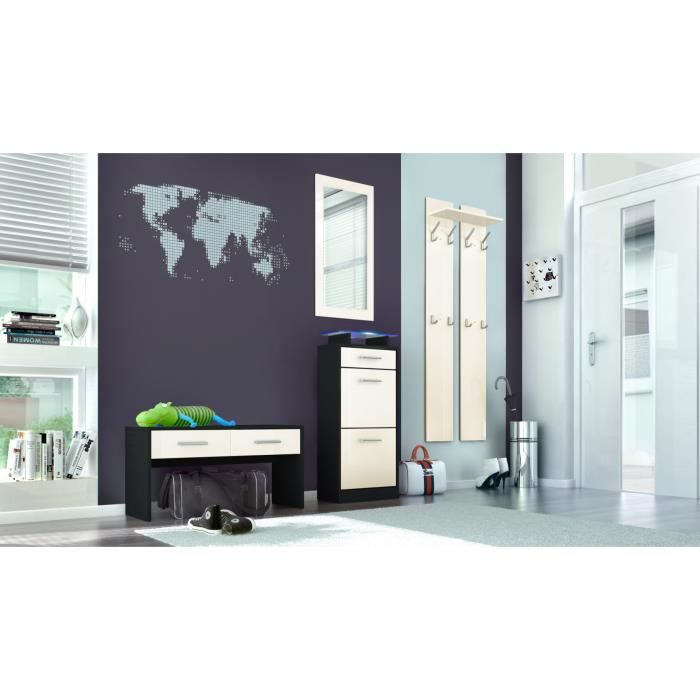 ensemble de meubles d 39 entr e noir et cr me achat vente meuble d 39 entr e ensemble de meubles d. Black Bedroom Furniture Sets. Home Design Ideas
