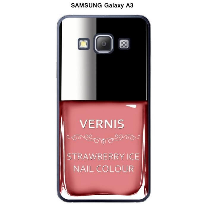 coque samsung galaxy a3 vernis strawberry ice achat coque bumper pas cher avis et meilleur. Black Bedroom Furniture Sets. Home Design Ideas