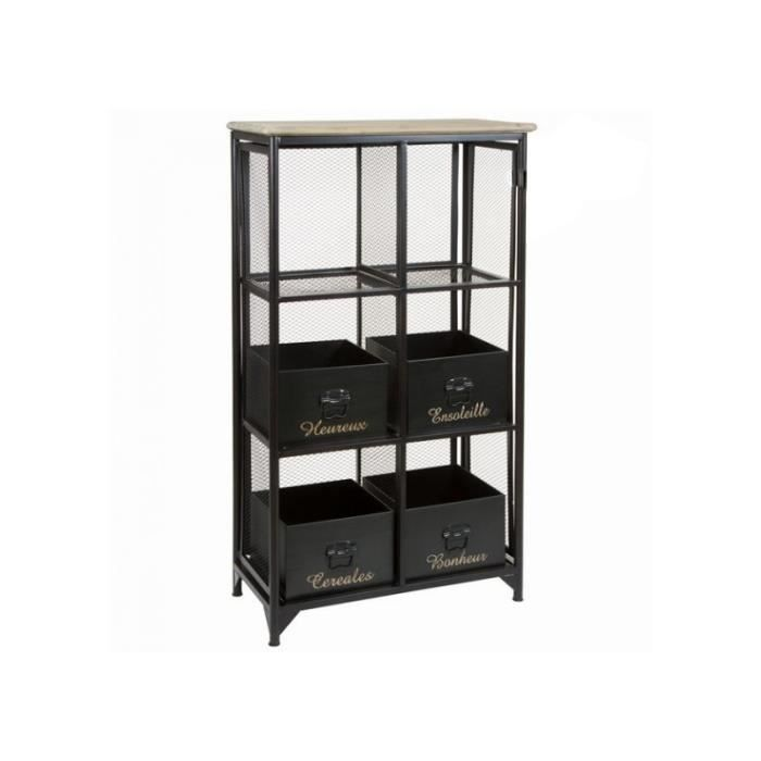 etag re grillage de bureau avec boites industriel loft achat vente biblioth que etag re. Black Bedroom Furniture Sets. Home Design Ideas