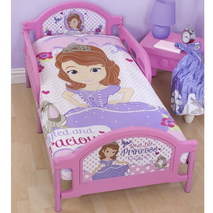 parure de lit junior princesse sofia disney achat vente housse de couette et taies cdiscount. Black Bedroom Furniture Sets. Home Design Ideas