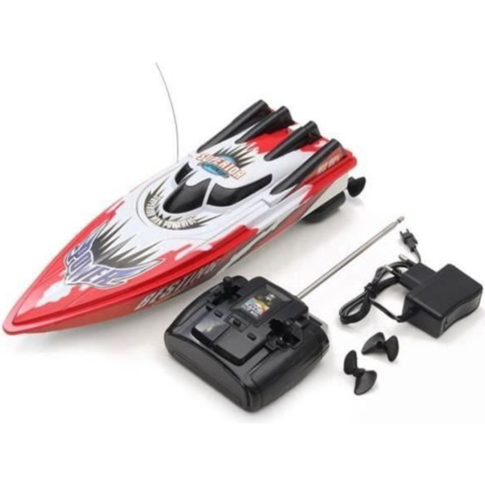RC 2.4G haute vitesse Racing bateau télécommande cadeau Jouet d/'eau pour enfants