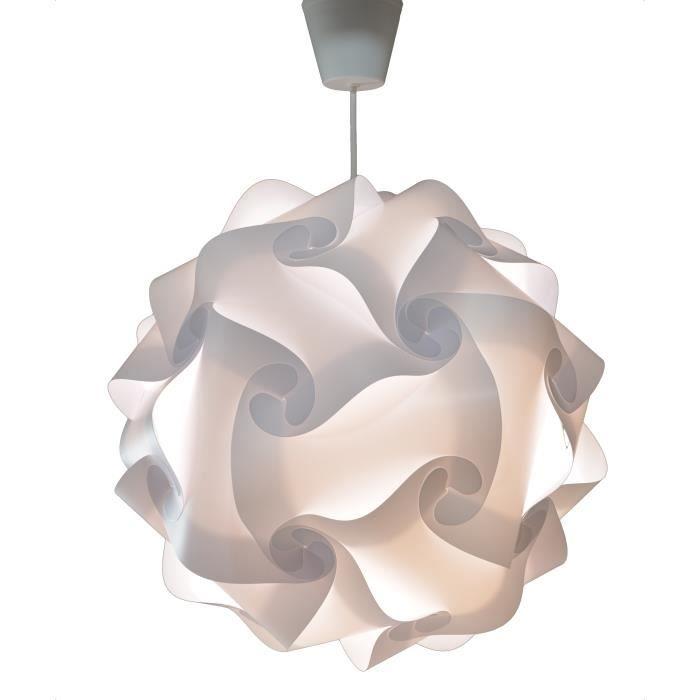 CREATIV LAMP - Suspension Luminaire - Lustre Chambre Prêt à Être Branché    Abat-Jour Led pour Fille Garçon Ado Adulte Ø40 cm
