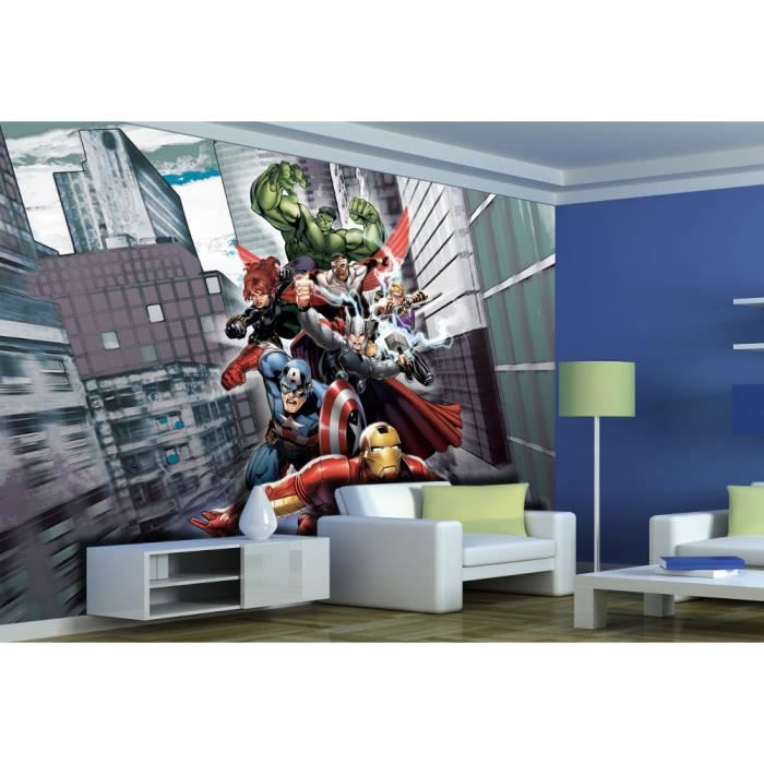 papier peint xxl avengers marvel achat vente papier peint cdiscount. Black Bedroom Furniture Sets. Home Design Ideas