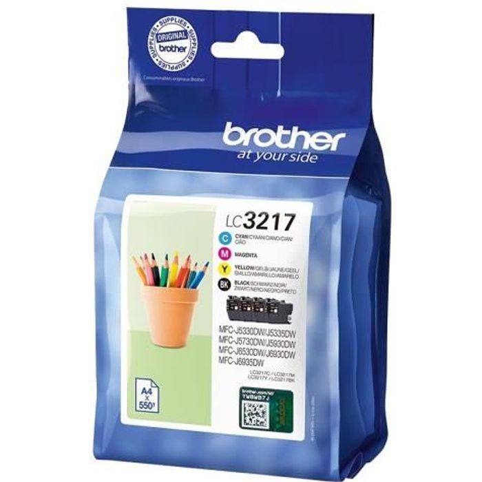 CARTOUCHE IMPRIMANTE Brother LC3217 Value Pack Pack de 4 noir, jaune, c