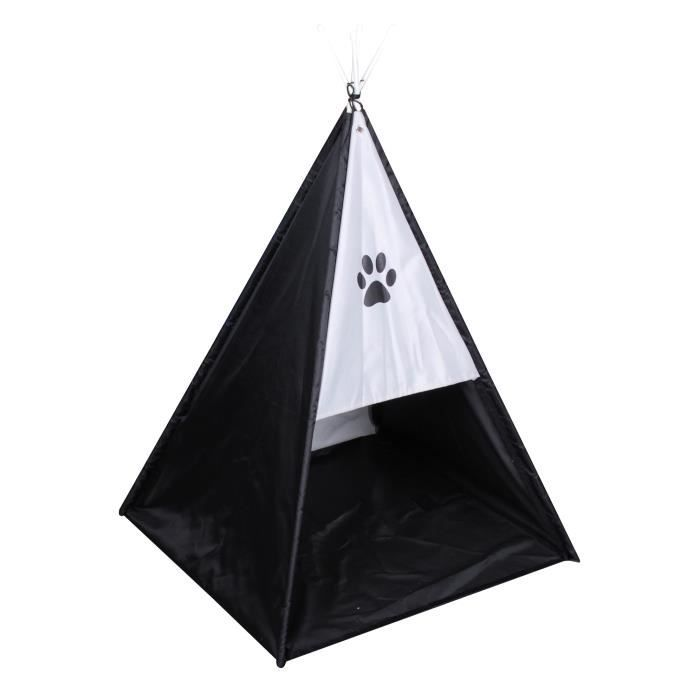 ACCESSOIRE ABRI ANIMAL Tente tipi Dogi 47x47x62 cm - Noir - Pour chien